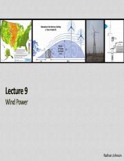 Lecture 09 - Wind Power