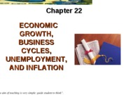 Ch 22 Economic Growth, Business Cycle, Employment, Inflation