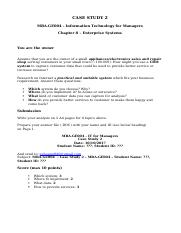 Information Technology for Managers - Case Study 2 - Individual.docx