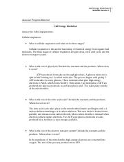 CellEnergyWorksheet - Cell Energy Worksheet SCI/230 Version 7 ...