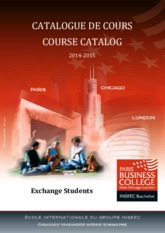 Catalogue Paris Business College 2014-2015 Exchange