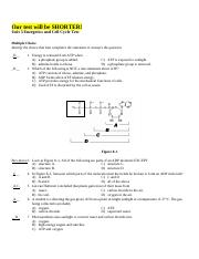 Practice Questions for Unit 3 Test - Key