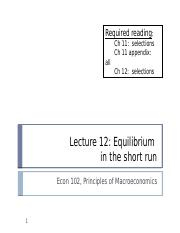 Macro lecture 12