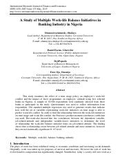 Work Life Published Paper (June 2015) - Oludayo.pdf