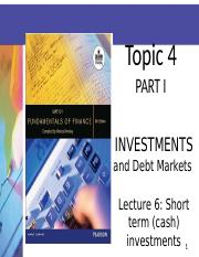 LECTURE 6 SLIDES 2014 (INVESTMENTS  CASH).ppt