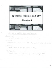 Class Note  Spending Income and GDP