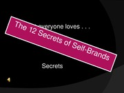 The 12 Secrets of Self-Brands