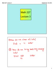 Math 227 Lecture 3