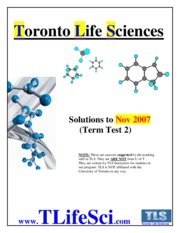 CHM 138 TT2 Solutions (November 2007 Test)