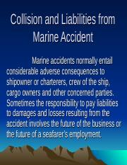 Collision and Liabilities from Marine Accident IV-10.ppt