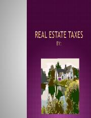 Real Estate Taxes.ppt