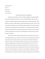Pride and Prejudice Analytical Essay