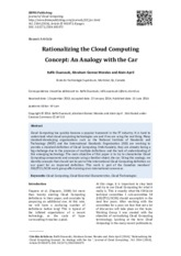 Rationalizing the Cloud Computing