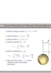 93. Electric Potential of a Uniformly Charged Spherical Shell