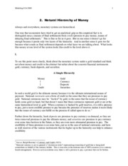money-lecture_notes-Lec 02--The Natural Hierarchy of Money
