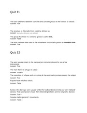 music quizzes for test 3