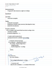 11-16  Class Notes CS 107