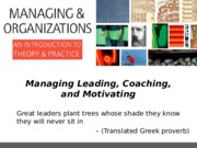 MGMT110_Autumn2015_Lectures_Ch_4_-_Managing_Leading