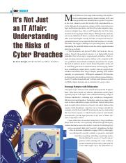 Cyber risks-Its not just an IT affair