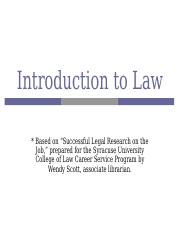 Class 1 - Intro to Law (2).ppt