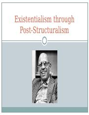 13. Existentialism through Post-Structuralism.ppt