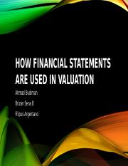 How Financial Statements Are Used in Valuation.pptx