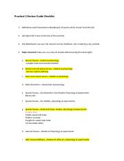 Practical 2 Review Guide Checklist(1)