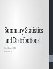 lecture 4 - summary statistics and distributions.pptx