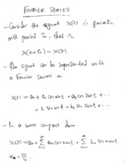 Fourier Series and Complex Exp Fourier Srs