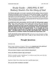307 Study Guide For Glory of God (with chapter 4)