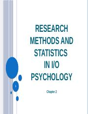 Lecture 3 Research Methods, part 1
