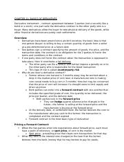 The Basics of Derivatives Notes - Ch 11 Financial Management Outline.docx