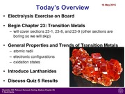 Lecture 22- Transition Metals