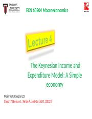 Lecture 4 Keynes Expenditure I Simple Economy.ppt