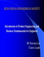 Introduction to Product Engineering and Business Fundamentals for Engineers