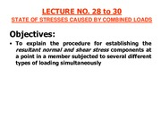 LECTURE # 28 to 30