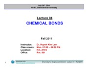 Lecture 04_Chemical Bonds