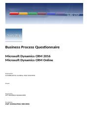 0.02_Requirements Questionnaire_CRM and CRM Online