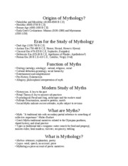 Origins of Mythology