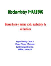 Biochem_Chapter_22 AA nucleotide synthesis.ppt