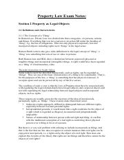 Property Law Exam Notes 2.pdf