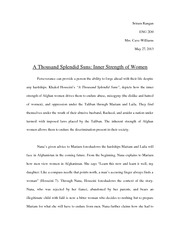 a thousand splendid suns isp essay 2.0