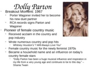 dolly parton power point
