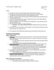 AP Government - Chapter 3 Notes