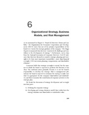 Organization strategy-business models & risk mgt