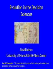 Evolution in the Decision Sciences (1).pptx