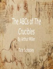 Tate Schooley - ABCs of The Crucibles