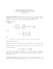 Problem Set 6 Solution Spring 2010 on Linear Algebra