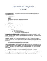 Lecture Exam 2 Study Guide