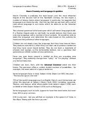 Noam chomsky on language acquisition pdf download
